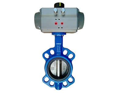 D671X stainless steel pneumatic butterfly valve
