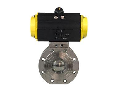 Pneumatic ultra-thin ball valve