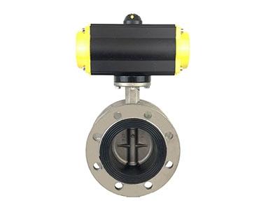 Pneumatic flange butterfly valve