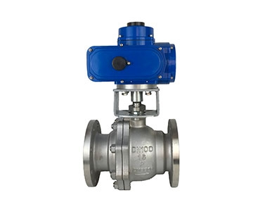 Electric flange ball valve