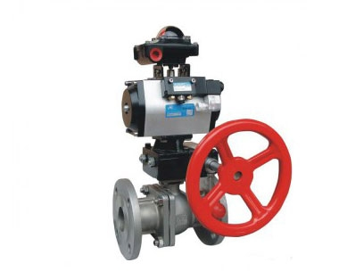 Q641H pneumatic ball valve with manual device