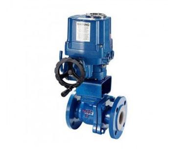 Q941F QT type electric fluorine lined ball valve